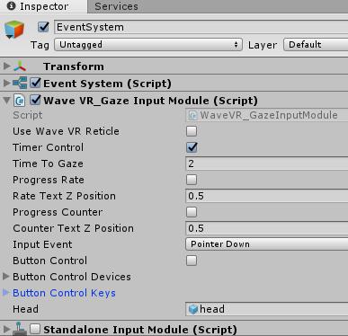 WaveVR_GazeInputModule — Wave VR 3 1 1 documentation