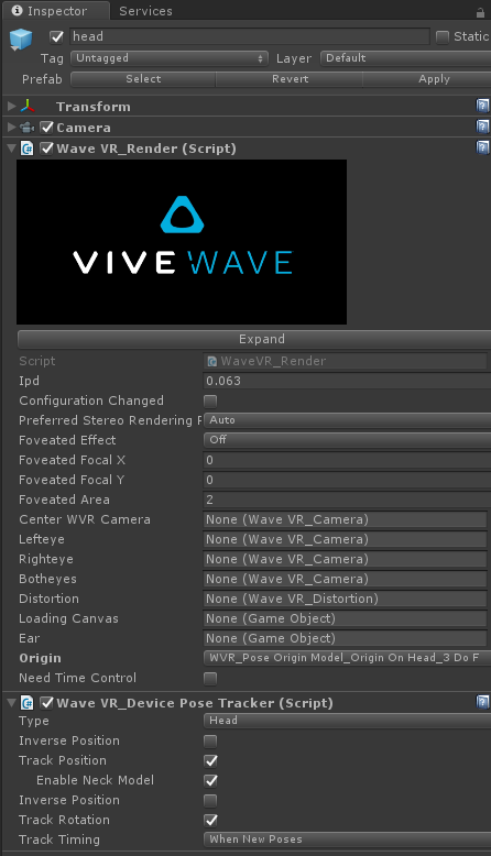 WaveVR_PoseTracker — Wave VR 3 1 1 documentation