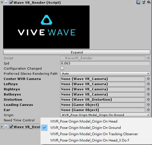 Unity Plugin Getting Started — Wave VR 3 1 1 documentation